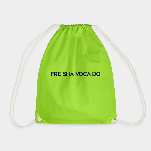 Fre Sha Voca Do Black - Drawstring Bag