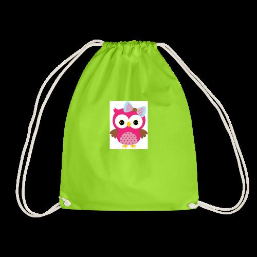 Girly Owl - Drawstring Bag