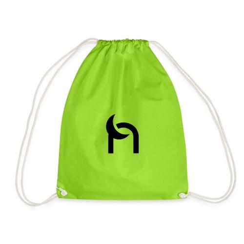 Nocturnal n logo black - Drawstring Bag