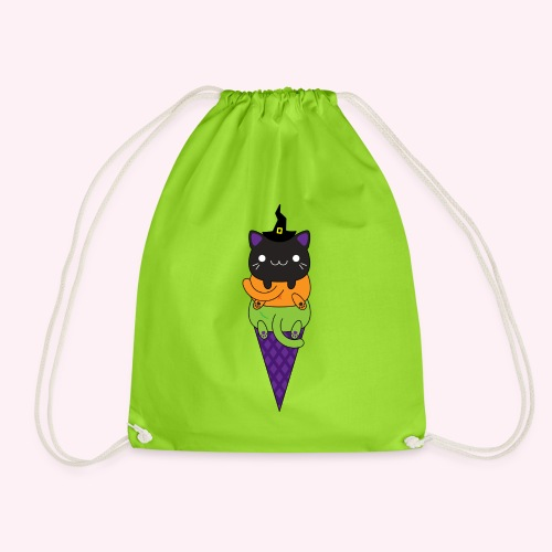 Cat Cream - Halloween - Drawstring Bag