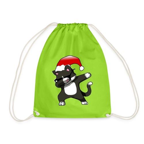 Lustige Katze Kater Dab Dabbing Weihnachten Logo - Turnbeutel