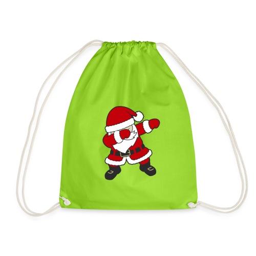 Dab Dabbing Trend Santa Claus Weihnachtsmann Logo - Turnbeutel