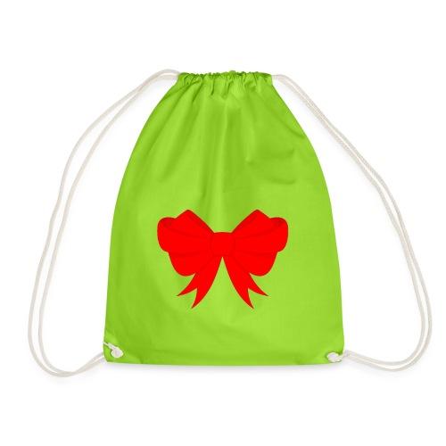 Schleife, Weihnachts Geschenk, Marry Christmas - Turnbeutel