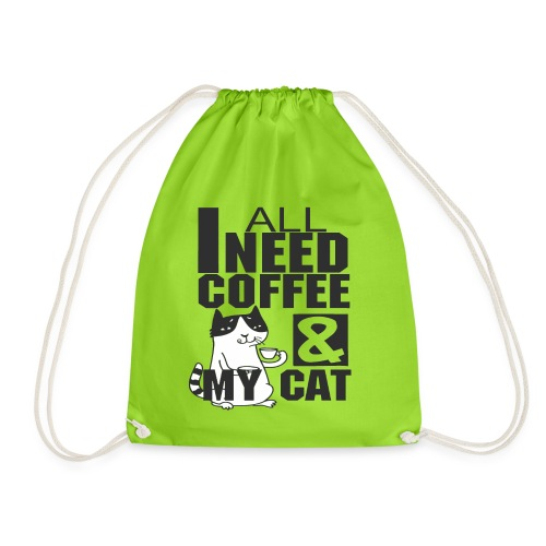 All I need is coffee and my cat - Funny coffee cat - Sac de sport léger