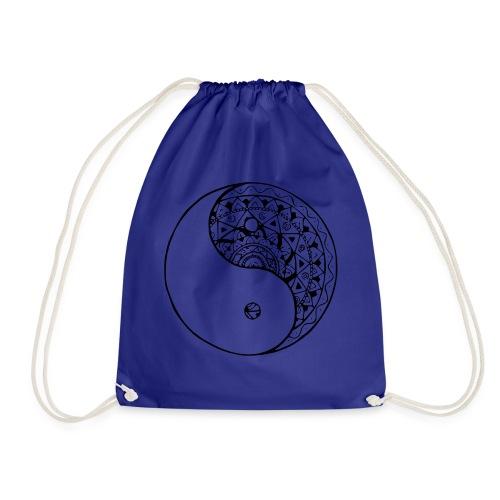mandala yin yang - Mochila saco