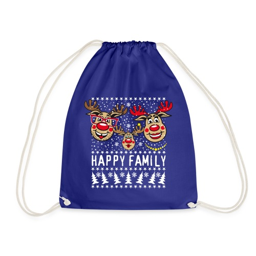 94 Hirsch Rudolph HAPPY FAMILY Papa Mama Kind - Turnbeutel