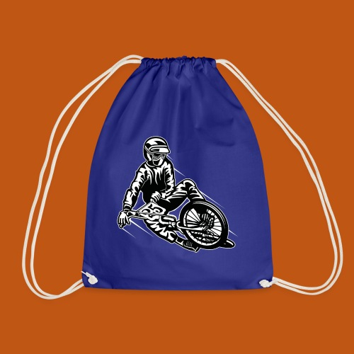 BMX / Mountain Biker 03_schwarz weiß - Turnbeutel