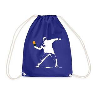 Bucksy (white) - Drawstring Bag