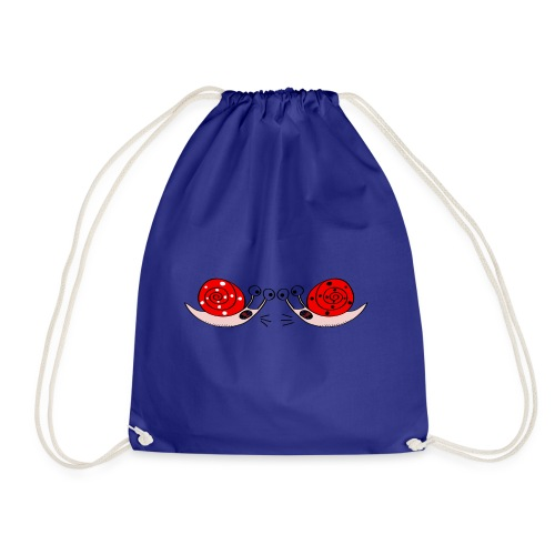 Crazy snails - Drawstring Bag
