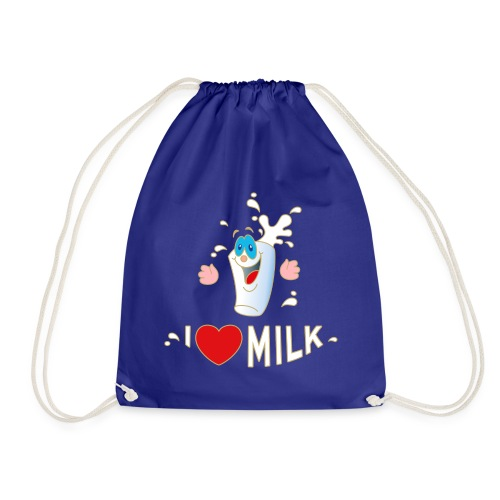I love Milk Kuh Weide Sahne Schokolade Milchkaffee - Turnbeutel
