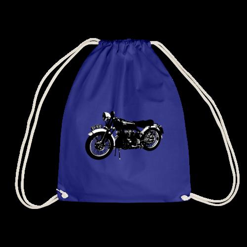 Classic motor bike Black Shadow - Drawstring Bag