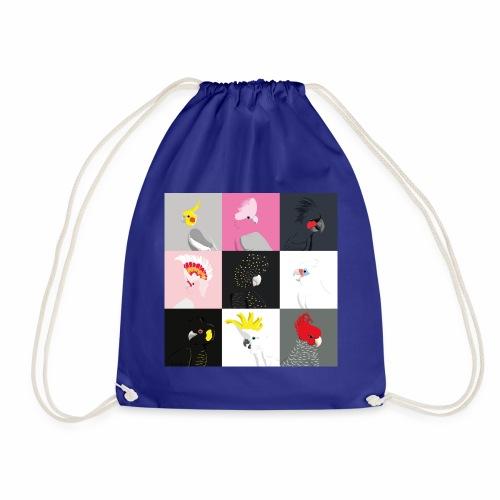 Cockatoo tile portraits - Drawstring Bag