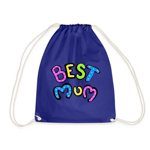 Best mum funky colourful design for your mum - Drawstring Bag