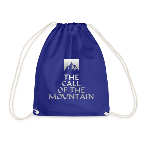 The Call Of The Mountain - silver - Drawstring Bag