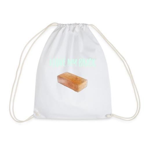 I love my brick - Drawstring Bag