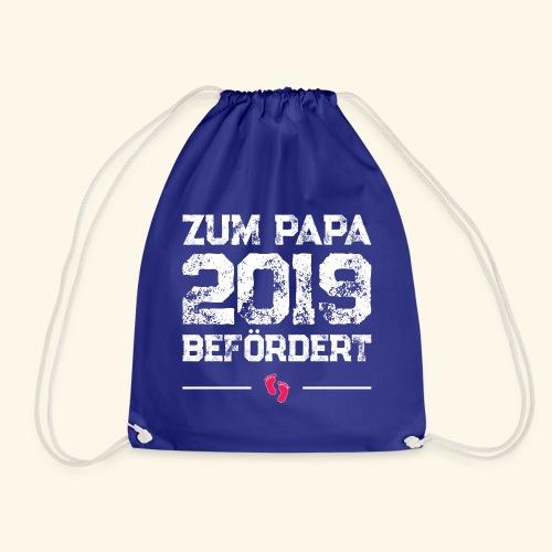 Zum Papa 2019 befördert - Schwangerschaft Geschenk - Turnbeutel