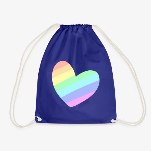 Pastal Rainbow Heart - Gymtas
