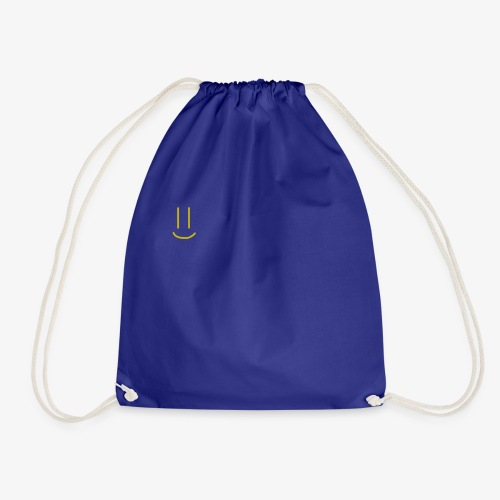 Gold Smiley Face - Drawstring Bag