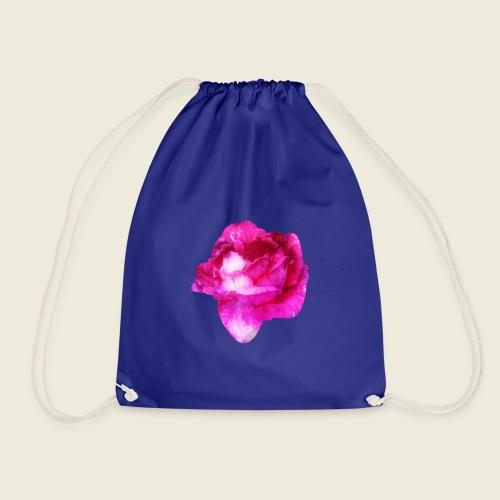Zauberhafte pinke Rose - Turnbeutel