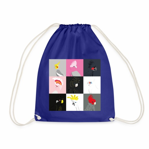 Cockatoo tile portraits - Drawstring Bag