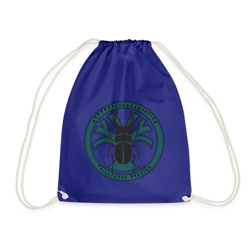 Rhino/Stag Beetle logo - Drawstring Bag