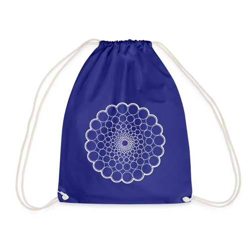 White Spectrum Mandala - Drawstring Bag