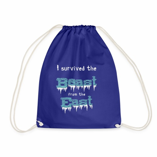 I survived the Beast from East! - Drawstring Bag