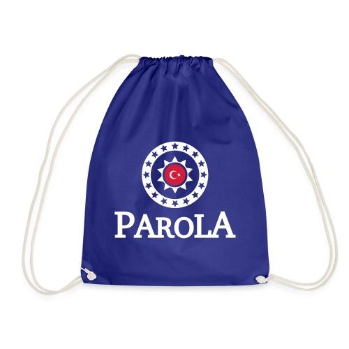 Parola Logo plane - black - Turnbeutel