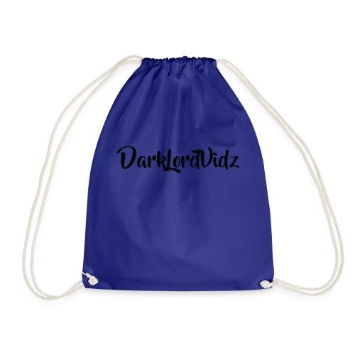 DarklordVidz Black Logo - Drawstring Bag