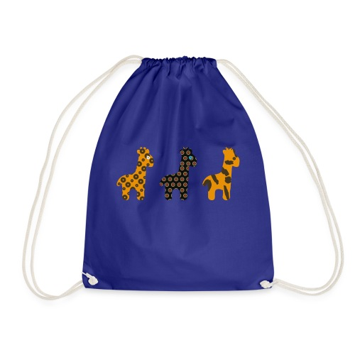 3 Giraffes in a row - Drawstring Bag