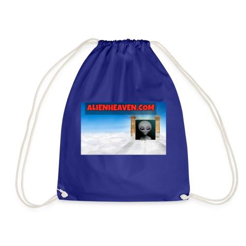alien heaven logo - Drawstring Bag