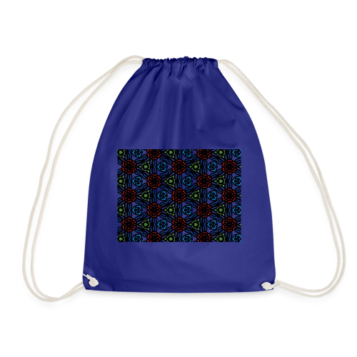 symmetric colourful roses pattern - Drawstring Bag
