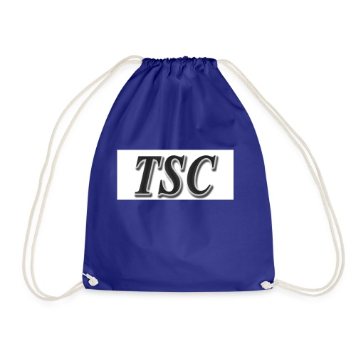 TSC Black Text - Drawstring Bag