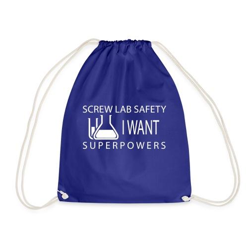 screw lab safety white - Drawstring Bag