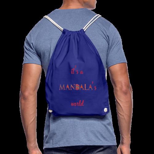 It's a mandala's world - Drawstring Bag