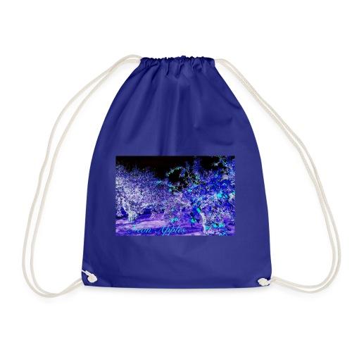 Neon Apples/purple cyan blue - Gymbag