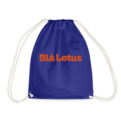 BHlå Lotus lång logga - Gymnastikpåse