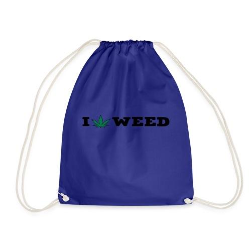 I LOVE WEED - Drawstring Bag