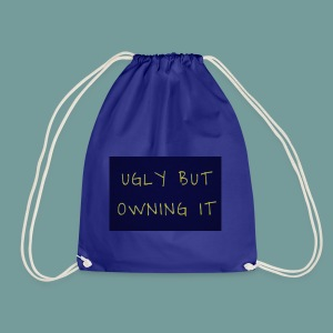 UGLY BUT OWNING IT - Drawstring Bag