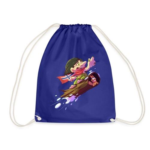 Snowboarder troll - Drawstring Bag