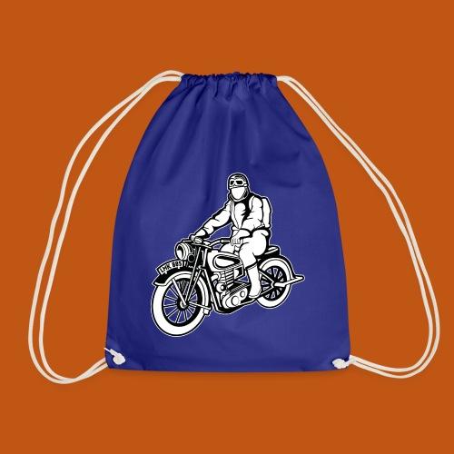 Chopper / Motorrad 04_schwarz weiß - Turnbeutel