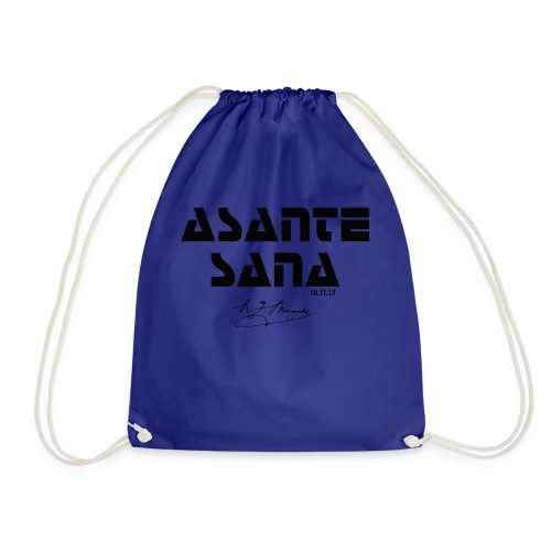 Asante Sana BLACK - Drawstring Bag