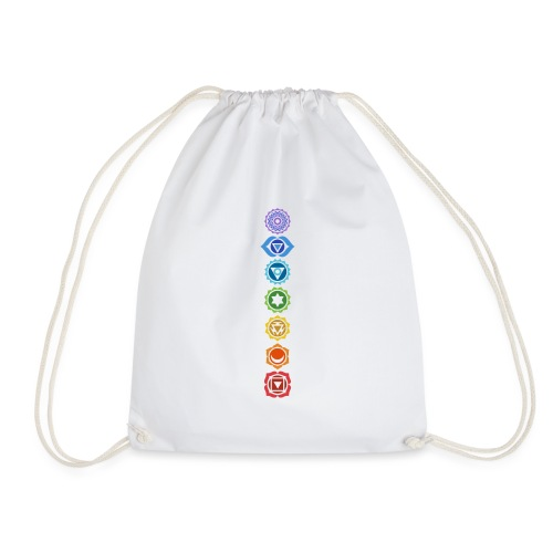 The 7 Chakras, Energy Centres Of The Body - Drawstring Bag