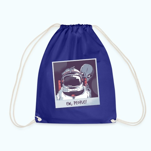 Aliens and astronaut - Drawstring Bag