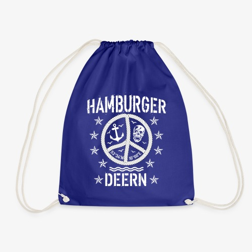 97 Hamburger Deern Peace Friedenszeichen Seil - Turnbeutel