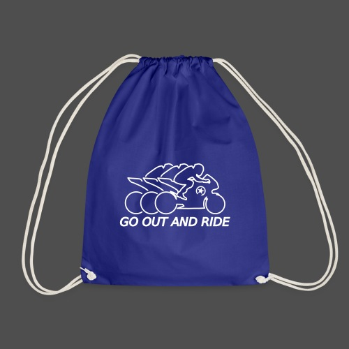 go out and ride superbike - Drawstring Bag