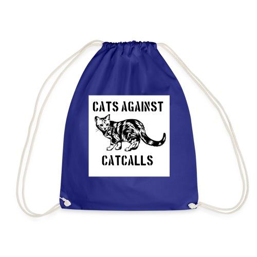 Cats against catcalls - Drawstring Bag