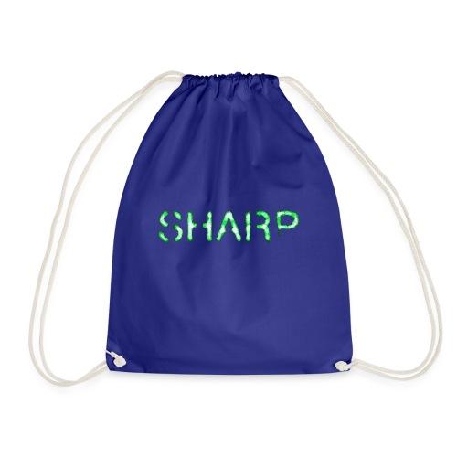 Sharp Clan black hoodie - Drawstring Bag