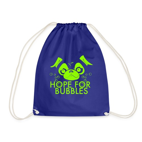HOPE FOR BUBBLES LIME MERCH - Gymtas