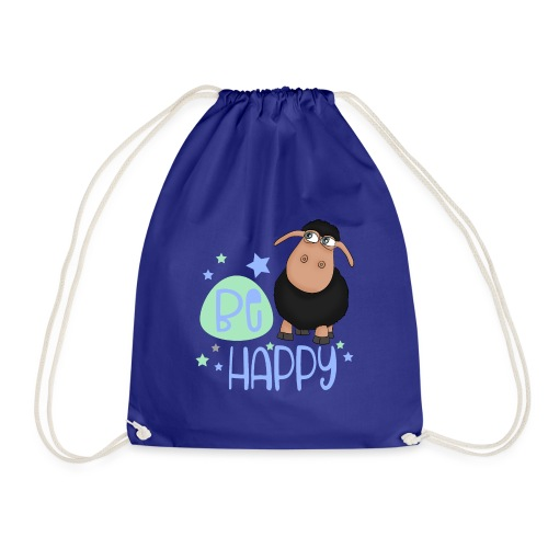Black sheep - Be happy sheep - lucky charm - Drawstring Bag